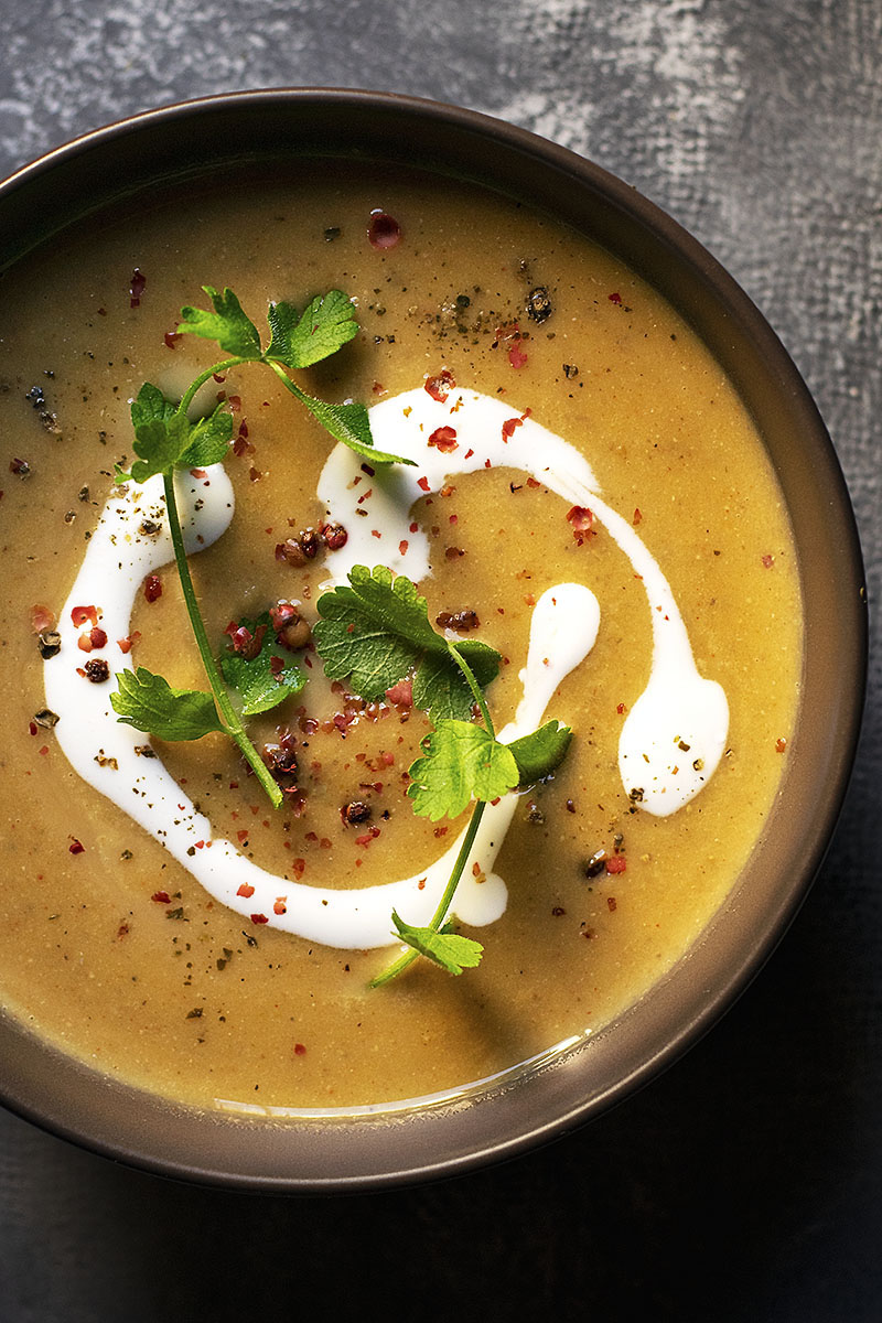 Easy red lentil and pumpkin velvet soup (Vegan) 2