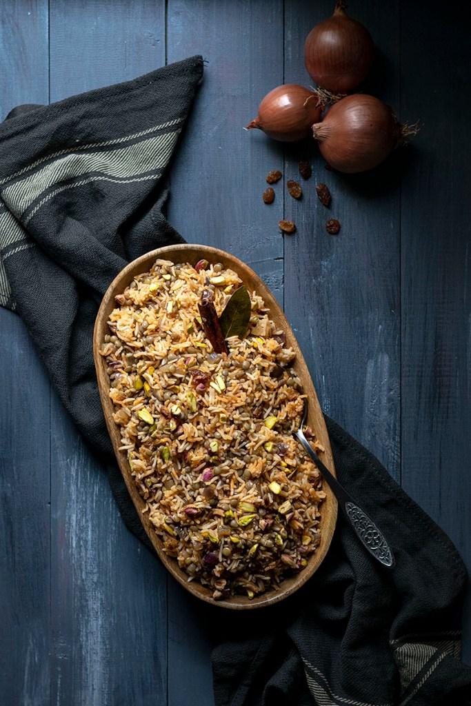 Lebanese Rice and Lentil Pilaf (Mujadara) - Vegan 3
