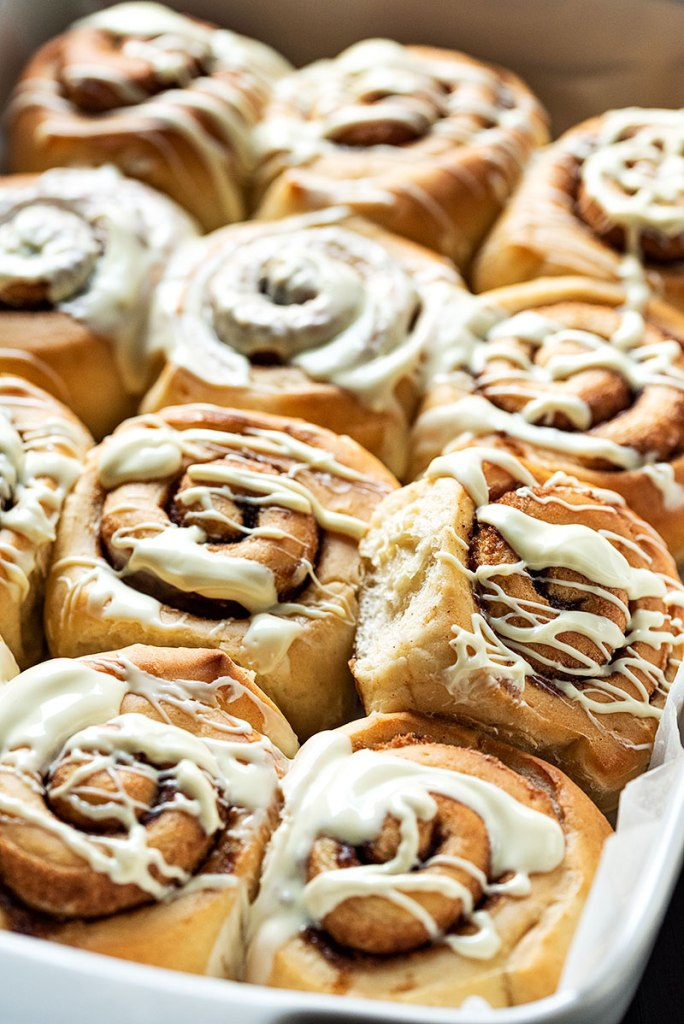 homemade cinnamon rolls recipe with the best icing 7