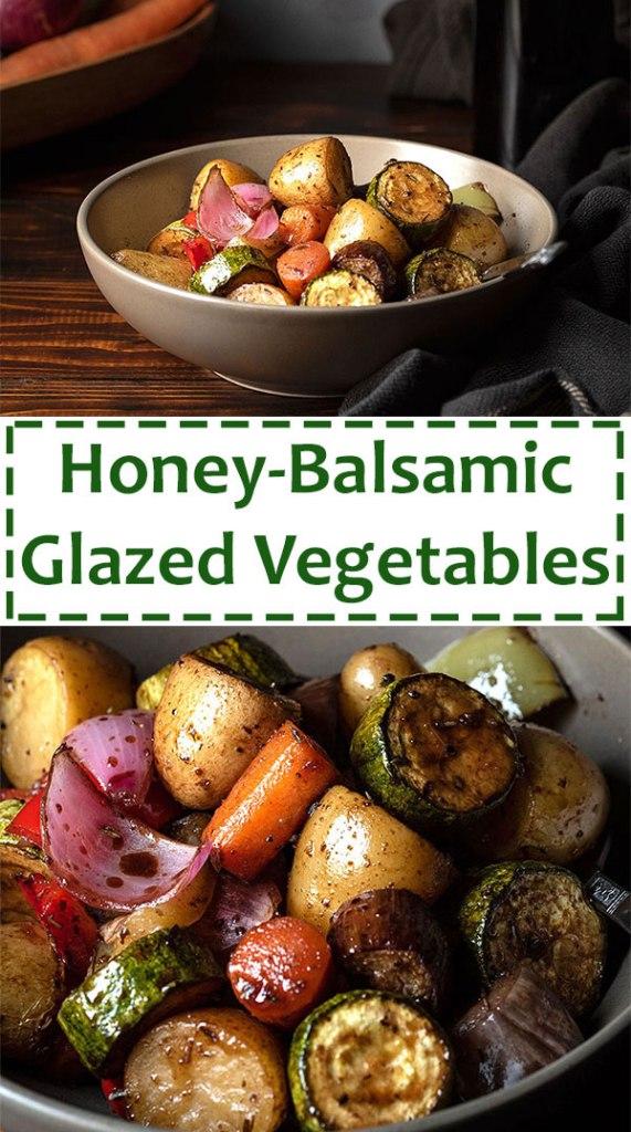 honey balsamic glazed roasted vegetables 5