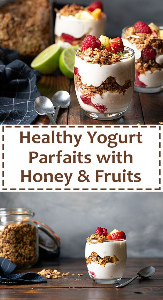 Yogurt parfait recipe with honey and fruits 5