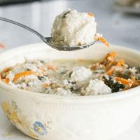 Keto Chicken and Dumpling Soup