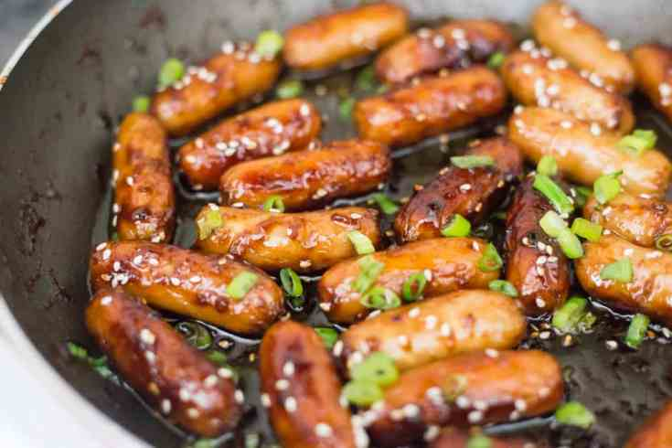 Best Keto Appetizer -  Sesame Sauced Sausages