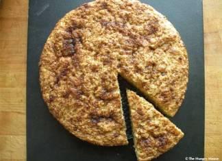 wedge of ricotta cake