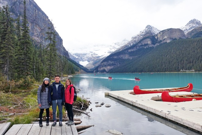 Lake Louise canoe crew - me, Viet, Vivian