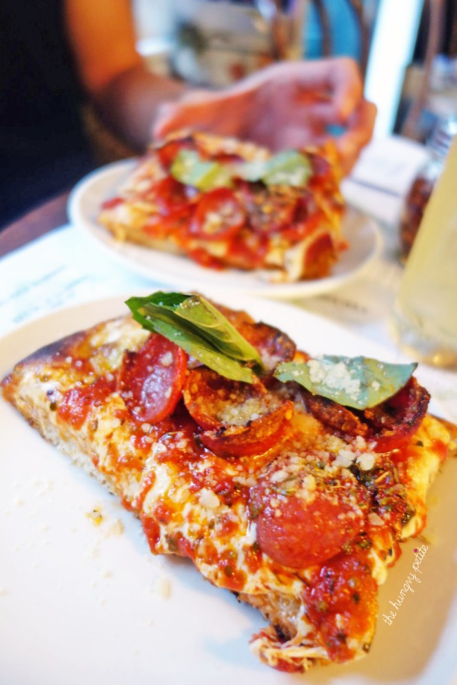$3 grandma slice during happy hour at GG's NYC