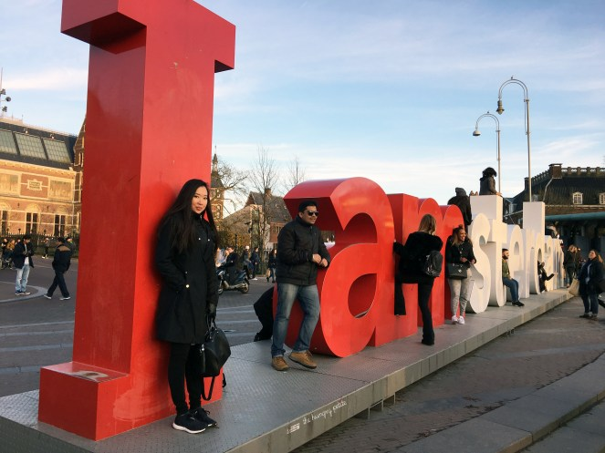 I Amsterdam Sign - me and a bunch of other people trying to get a mediocre shot.