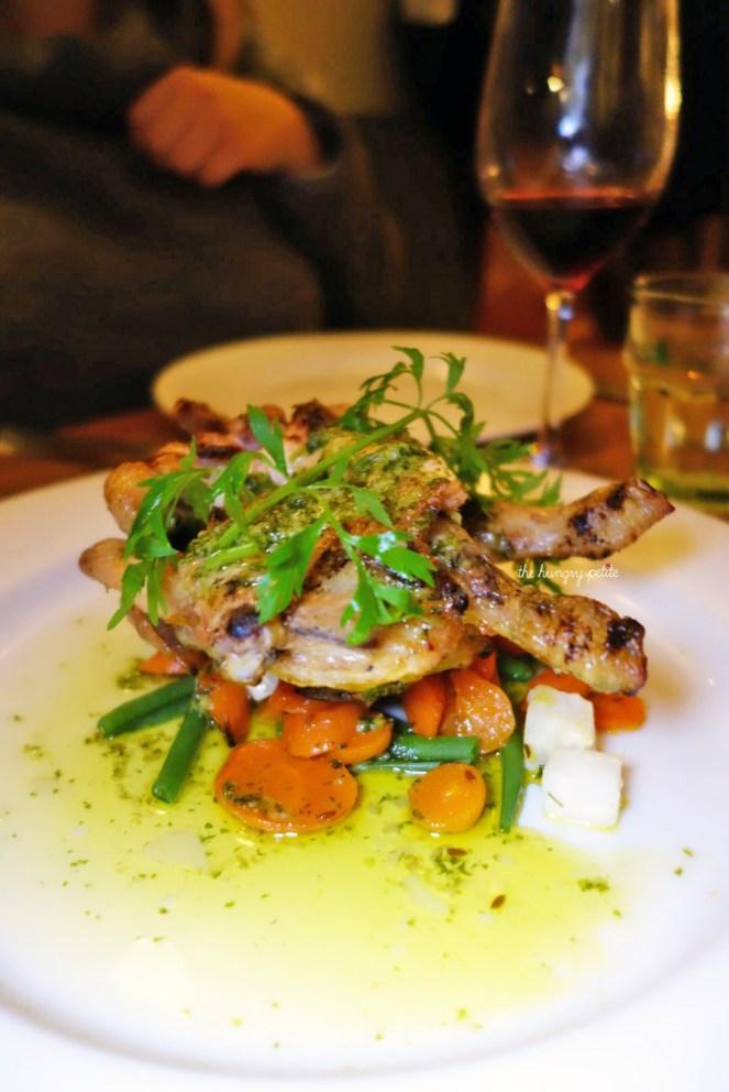Grilled chicken flattie with garlic butter