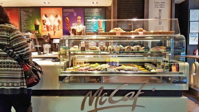 Not all the Mickey D's in Paris have McCafés. The one is near The Louvre.