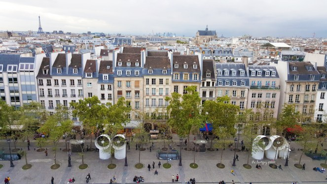 Paris is very pretty from the Pompidou
