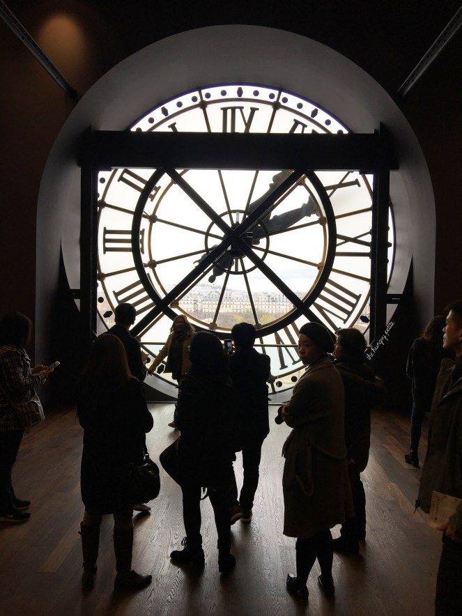 A view of Paris though the clock