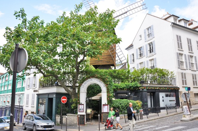 Le Moulin de la Galette. Built in 1622, it is one of only 3 remaining windmills in Montmartre. One of the others is at Moulin Rouge
