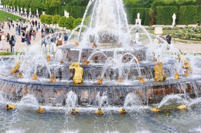 Latona's Fountain in the Garden of Versailles