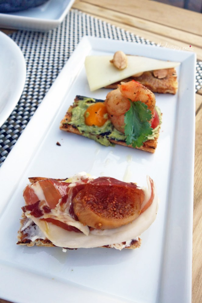 A closer look at the Prosciutto Crostini. Love that fig.