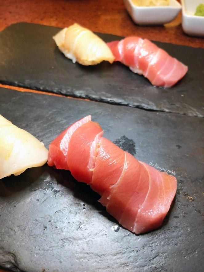 Chu-Toro (Blue Fin Medium Fatty Tuna) and Hiramasa (Wild Japanese Yellowtail Kingfish)