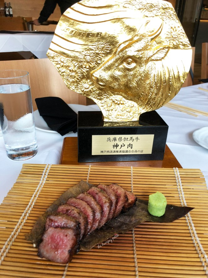 Roka Akor is among a very select group of restaurants in Texas to offer certified Japanese wagyu. Check out that gold trophy!