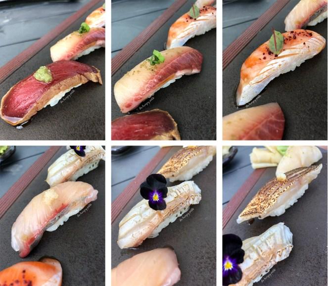 Roka Akor Nigiri Chef Selection included pieces like hamachi, kanpachi and madai.