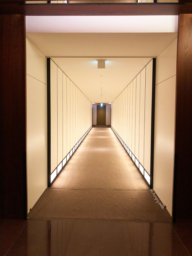 The hallway leading to our room is pretty amazing. Designed by New York-based Tony Chi to mimic Kyoto's 17th century Katsura Imperial Villa.