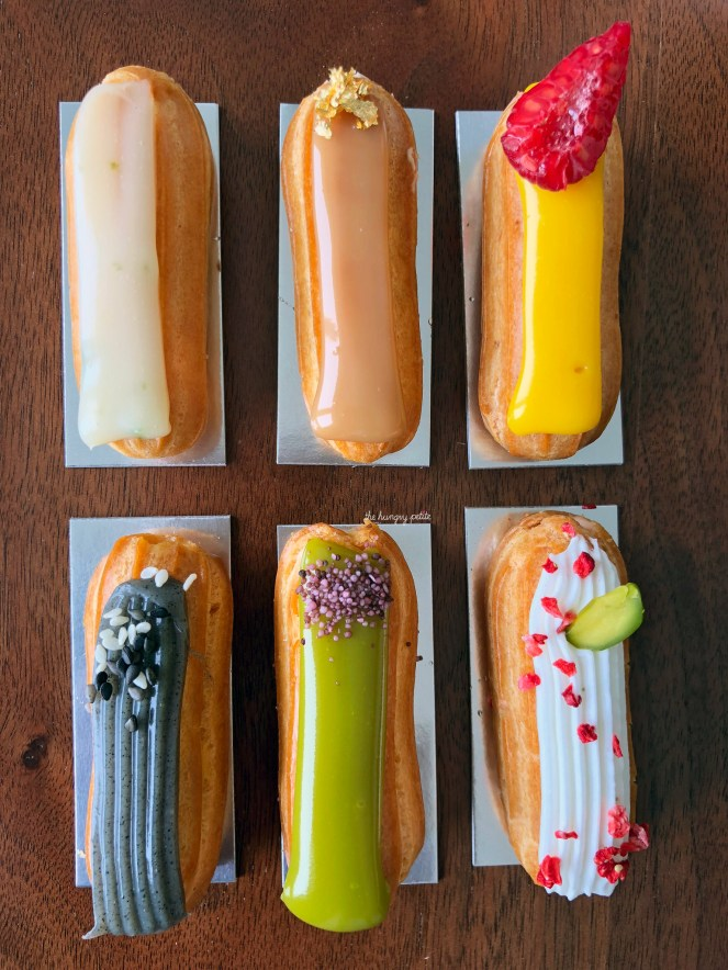 A closer shot of the eclairs.