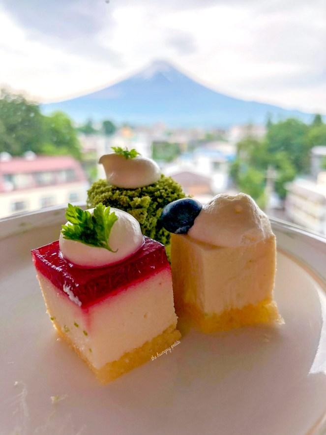 Sweets from Fuji Lake Hotel at Lake Kawaguchiko (one of the Fuji Five Lakes).