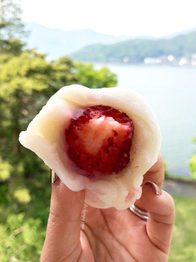 Ichigo Daifuku. This was the sweetest strawberry I've ever had. Probably because it was covered in sugar. Delicious!