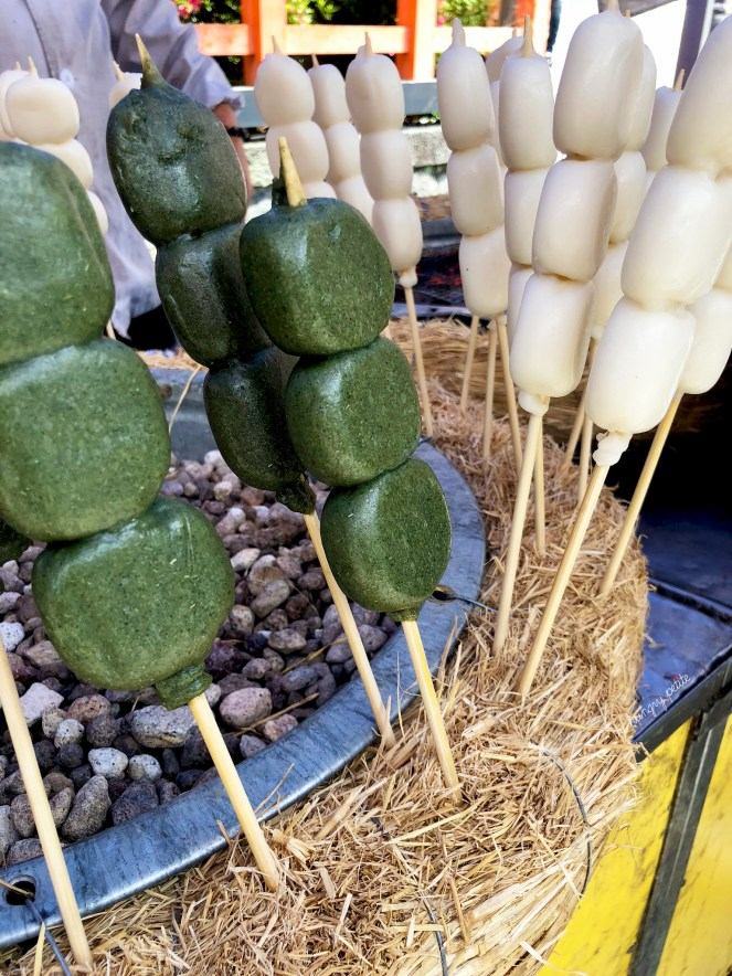 Hanami Dango. Cute, but easy to get mochi'd out fast.