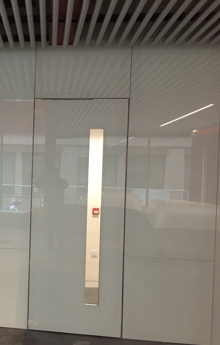 Glass clad fire doors