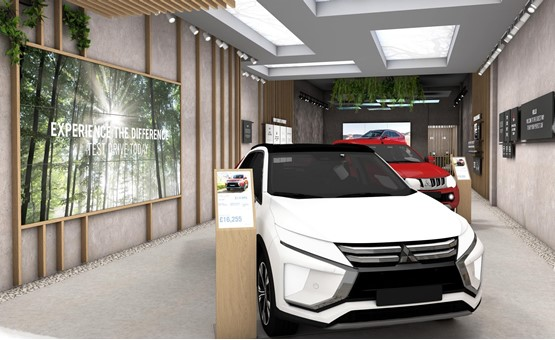 Mitsubishi's first shopping centre store!