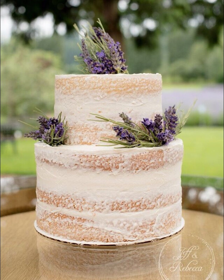 Llavender Naked Cake