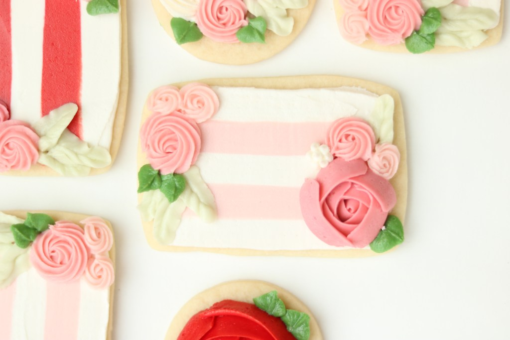 buttercream frosted sugar cookie