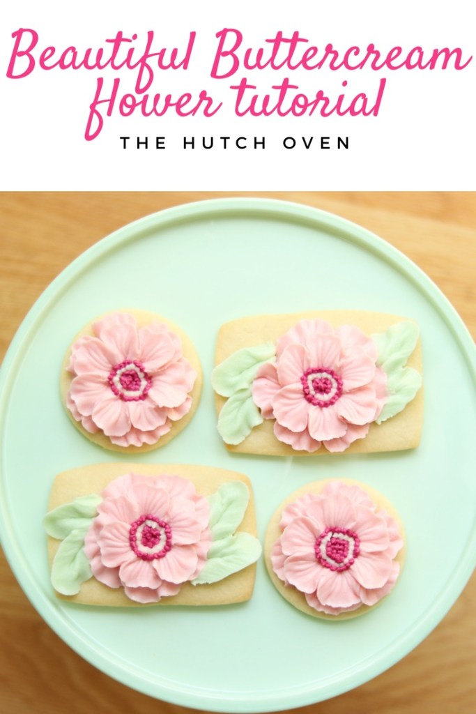 the hutch oven buttercream frosted flower video