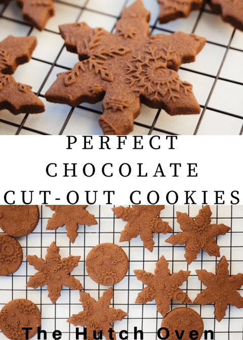 Perfect chocolate cut-out sugar cookie recipe by The Hutch Oven