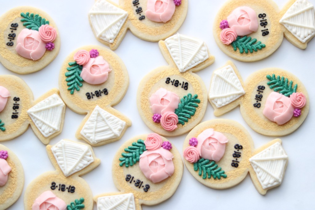 flower cookies for bridal shower