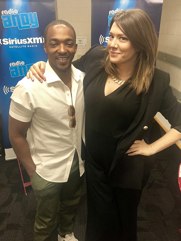 Anthony Mackie and Andy Cohen Live guest host Michelle Collins (Photo courtesy of SiriusXM's Radio Andy)
