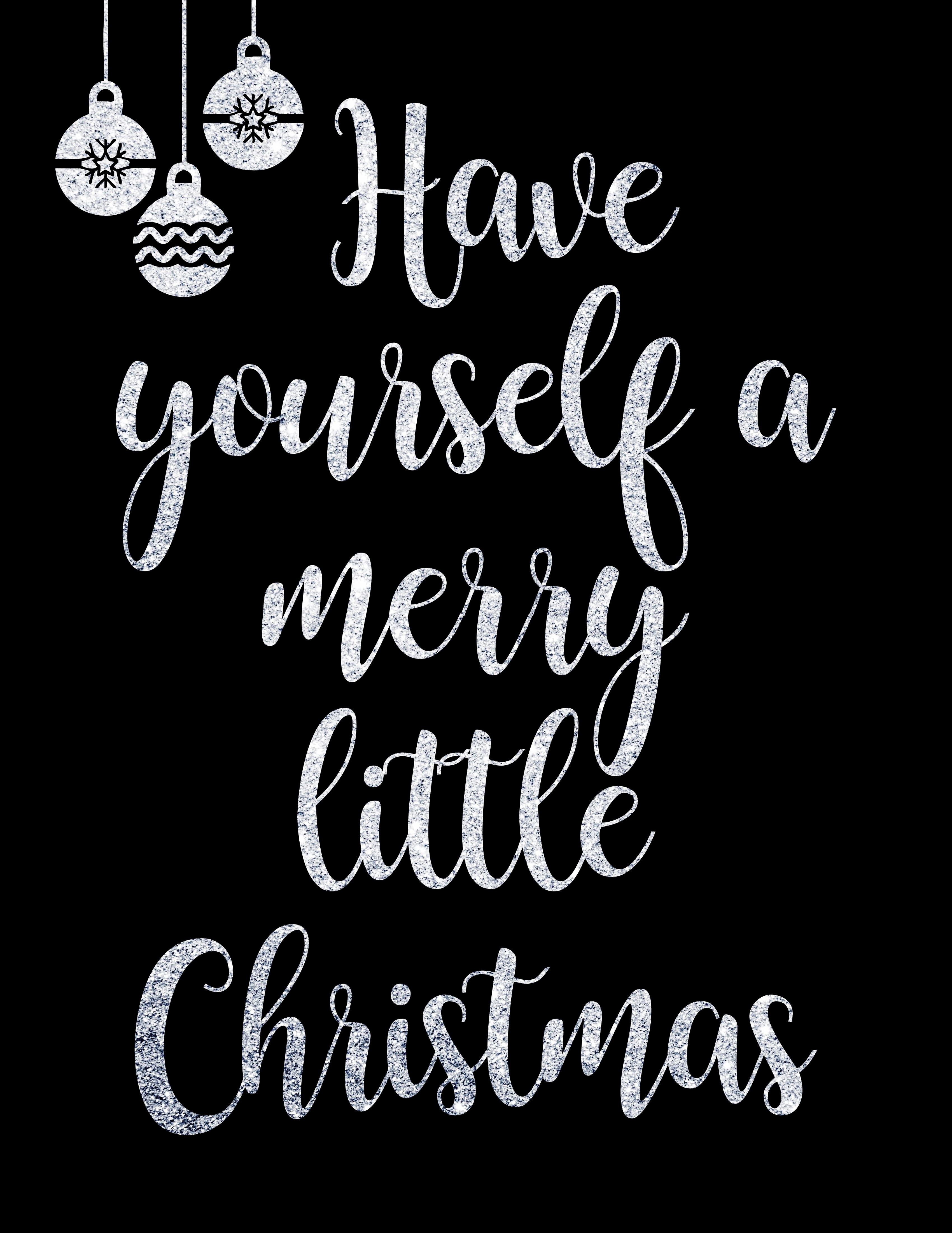 Have Yourself A Merry Little Christmas Print The Idea Door