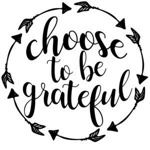 Choose to be grateful Print