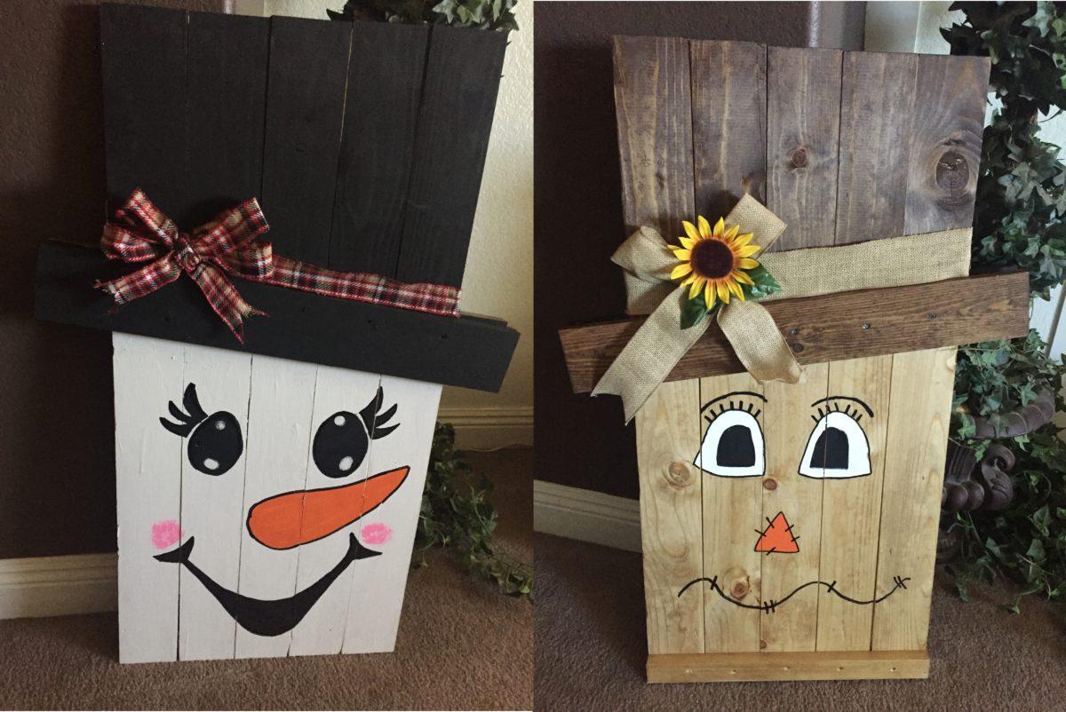 Reversible Scarecrow Amp Snowman Craft Idea