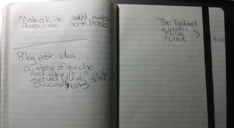 Inside of my Moleskine large notebook with ruled paper.