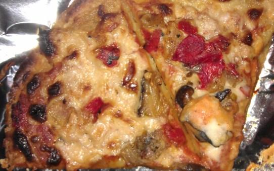 Bold Organics Veggie Lovers Pizza closeup