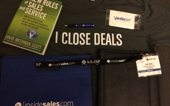 Some of the S.W.A.G. (Stuff We All Get) collected from the AA-ISP Inside Sales 2014 Boston conference.