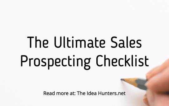 The Ultimate Sales Prospecting Checklist