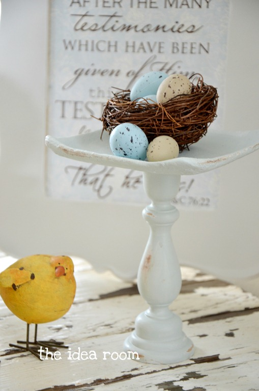 Spring Decor Bird Nest Pedestal The Idea Room