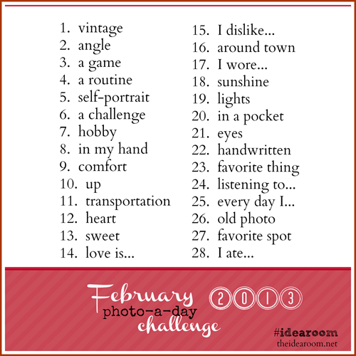 February Photo-a-Day Challenge