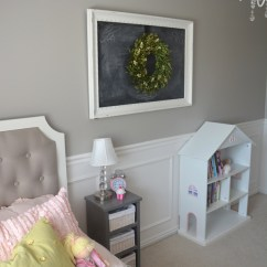 Chalkboard For Kitchen Wall Places To Buy Tables Girls Room Reveal - The Idea