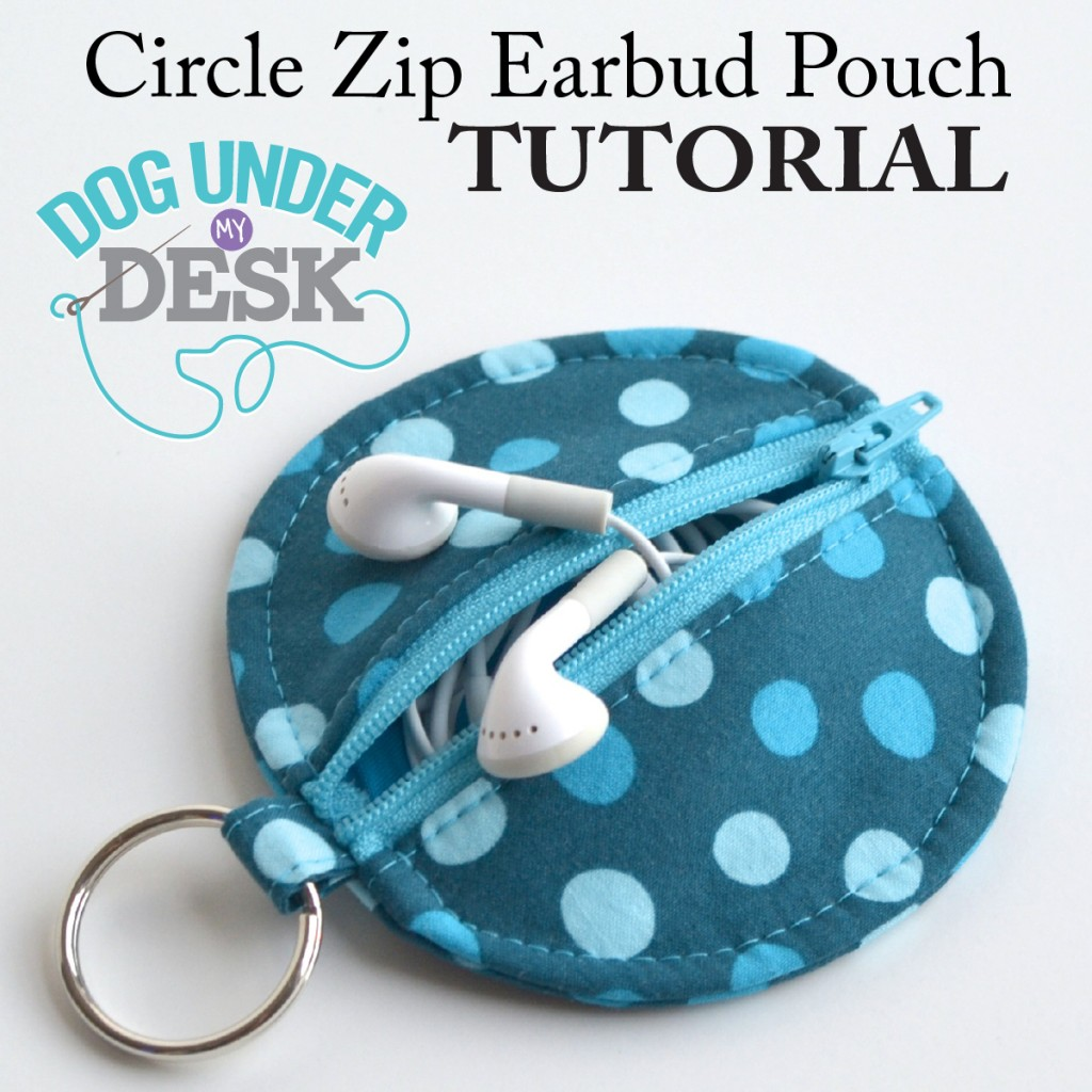 Earbud Pouch Tutorial Cover