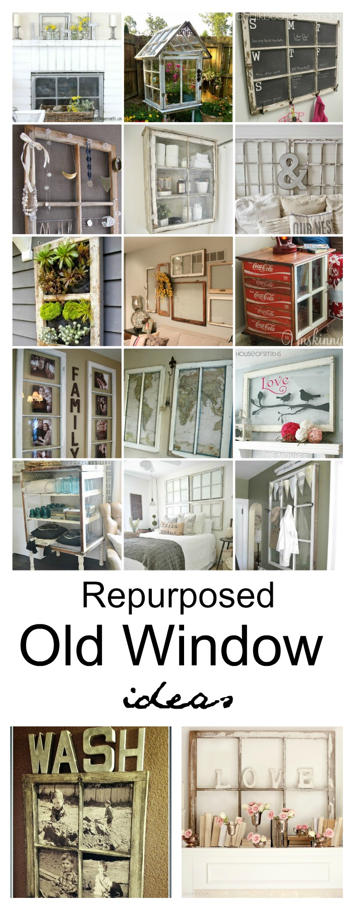 Repurposed Old Window Ideas