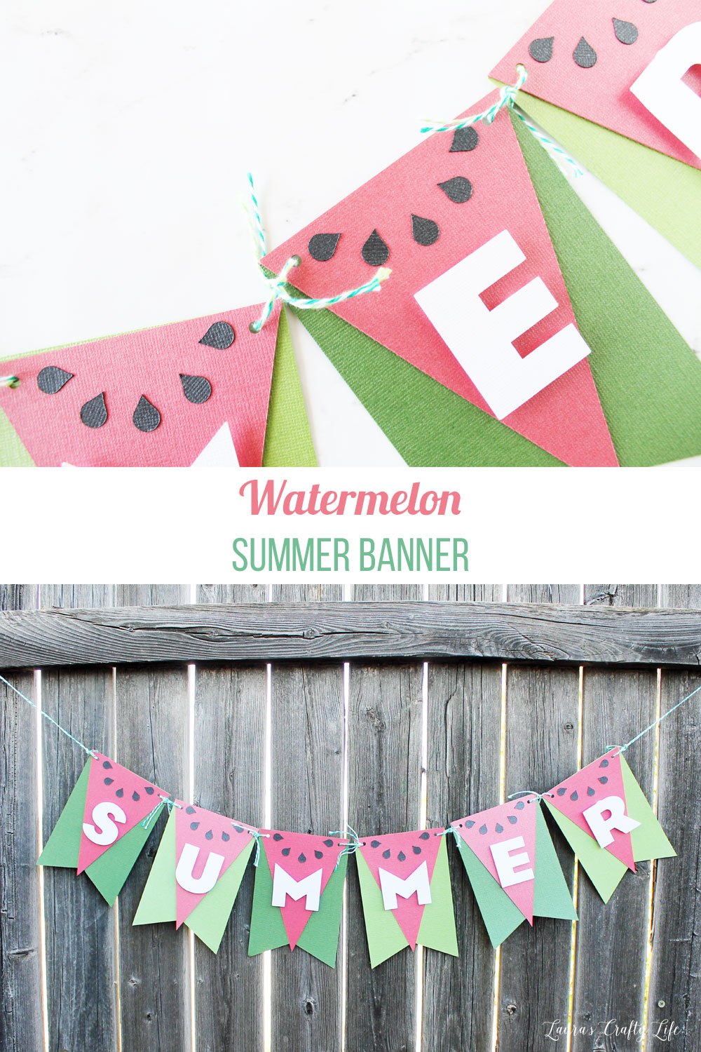 easy diy summer banner