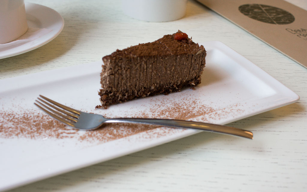 Raw Tiramisu in vegan and vegetarian restaurants in Vilnius