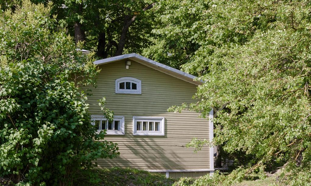 house in Kuressaare park, Estonia