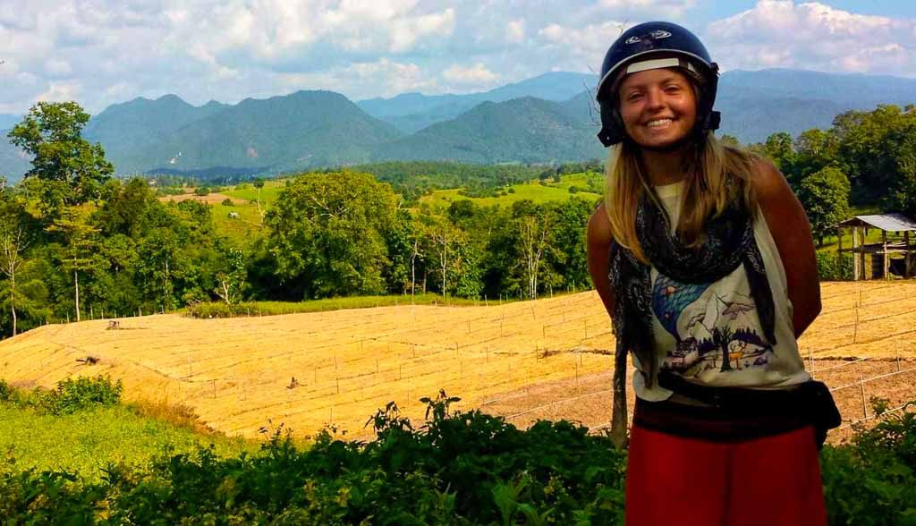 Kellie Mogg in Pai, Thailand